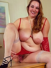 Big Tit Fatty in Red...