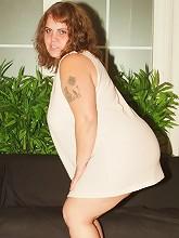 Sexy BBW Agnes acting...