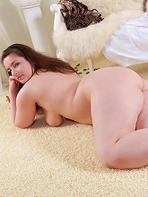 Chubby brunette candy...